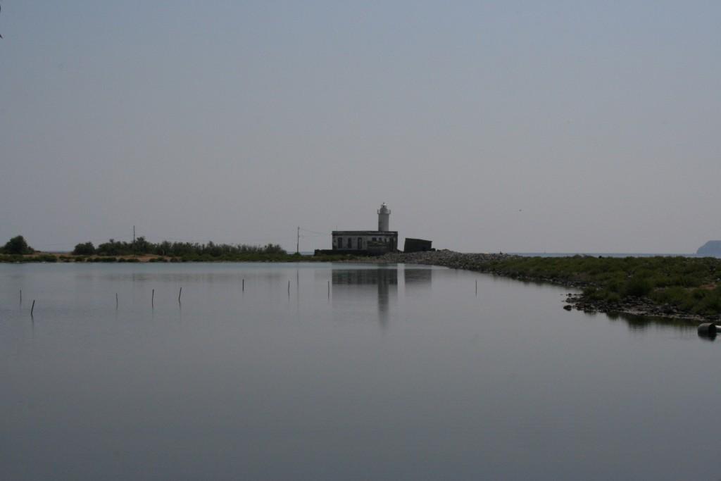 Il laghetto di Lingua a Salina